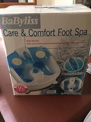 Babyliss Care & Comfort Foot Spa Excellent Condition