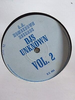 "Djs Unknown vol 2 Homegrown Records HG006 1994 12"" Old Skool Hardcore"
