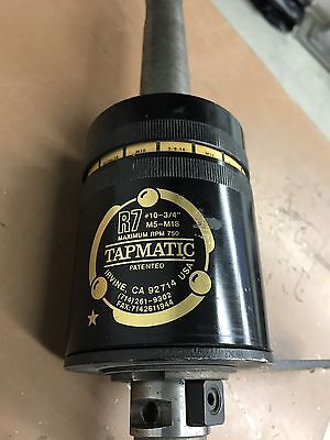 """TAPMATIC R-7 TAPPING HEAD #10-3/4"""" M5- M18 TAPPING HEAD   Untested"""