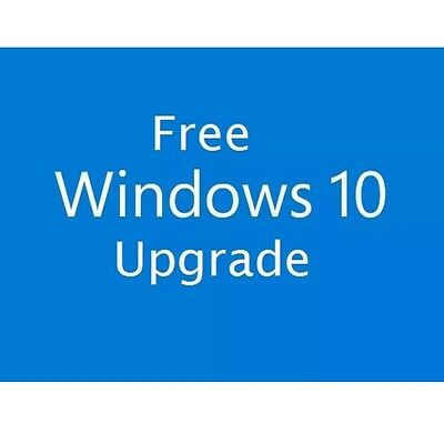 Windows 10 Upgrade Home and Pro 32 & 64bit (2 MINUTE WORLDWIDE DELIVERY)