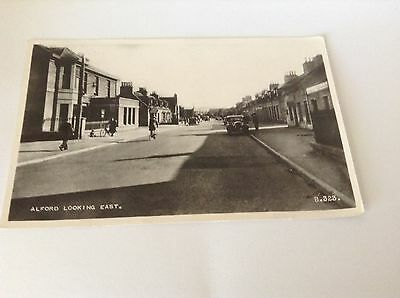Real Photograph Postcard - Alford Looking East.