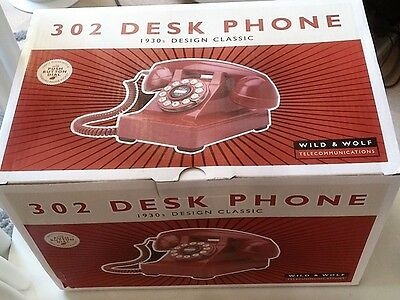 Wild & Wolf 302 Retro Classic Phone Red - New & never been out of its Box