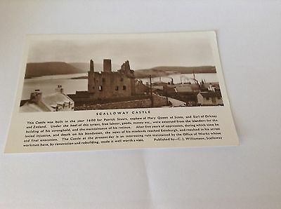 Real Photograph Postcard - Scalloway Castle.