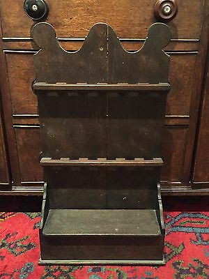 Antique Oak Spoon Rack