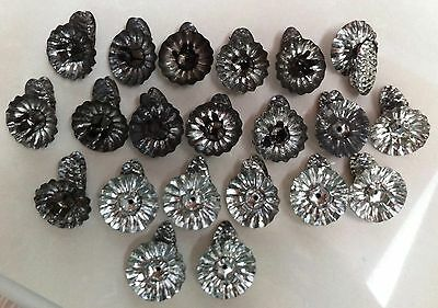 21 Vintage Tin Metal Christmas Tree Candle Holders w Pine Cone Clips Gentle Use