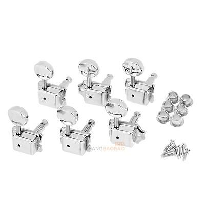 6R Inline Vintage Tuning Pegs Tuners Machine Heads For Fender Strat Guitar Tools