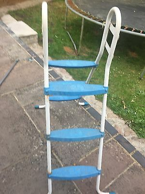 Out door Swimming pool ladder White and Blue
