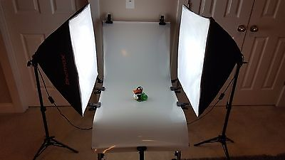 "Photography Studio Photo Shooting Table + 24"" Softbox Lights with stands (x2)"