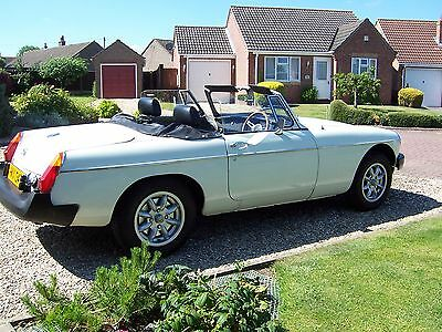 MG MGB Roadster In Irmine White With Leather Seats