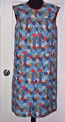 Vintage Mid Cen NOS With Tag Ladies Medium Silin House Dress Geometric Floral