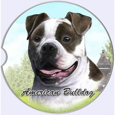 American Bulldog 2Ct Car Coasters