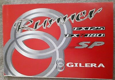 GILERA RUNNER FX125/ FXR180 OWNERS MANUAL 2 Stroke 1999-