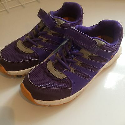 Girls Clarks Trainers Purple Size 11.5E