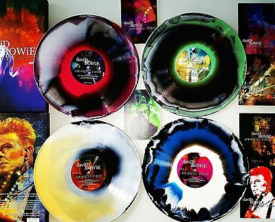 David Bowie Accidental Sirens Coloured Vinyl 4 LP Box Set New Limited Numbered