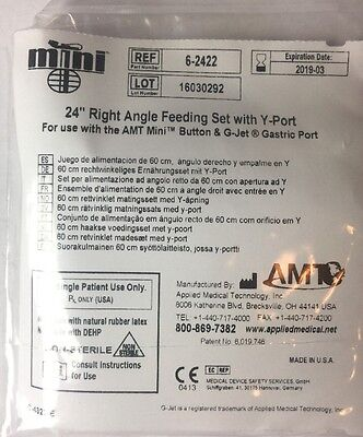 "Lot of 8 AMT Mini  24"" Right Angle feeding set with Y-Port"