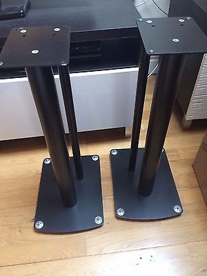 Speaker Stands (pair) - Black - Excellent Condition with Spikes