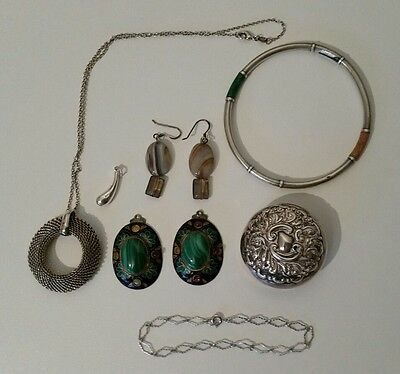925 silver jewellery and perfume bottle top.