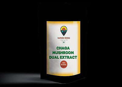 Chaga mushroom wild harvested dual extract 50 grams 3 months supply