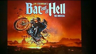 Bat Out Of Hell The Musical Tickets, London Coliseum x 3
