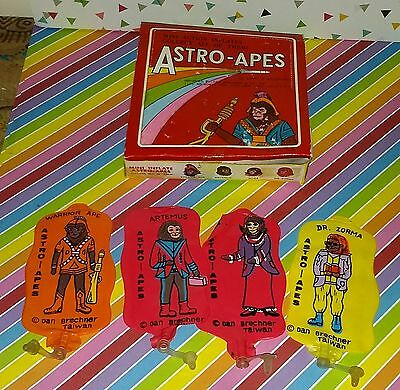 Vintage Set of 4 Astro Apes Inflatable Figures w/ Display Box (Planet of