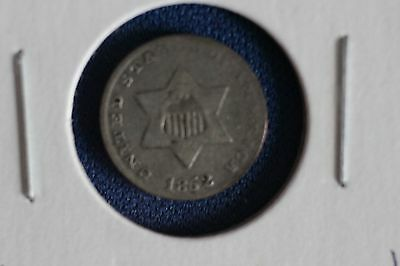1852 Silver Three Cent Piece