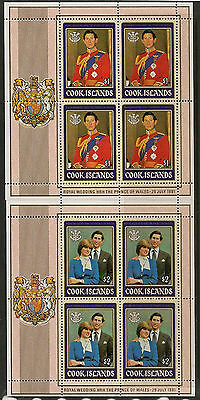 Cook Islands 1981 Royal Wedding M/s Sg# 812-3 Mint Never Hinged