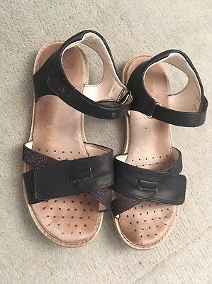 Geox Sandals/ Shoes Leather Navy Blue Size 3