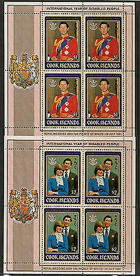 Cook Islands November 1981 Year Of Disabled M/s Sg#824/5 Mint Never Hinged