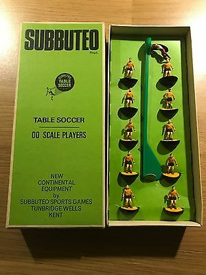 SUBBUTEO 00 Scale Players in Wolverhampton Wanderers Strip - Good Condition -