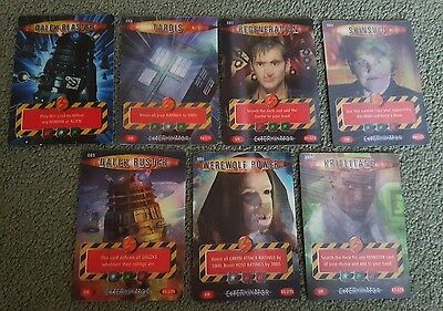 7 ultra rare doctor who battles in time cards Tardis  Dalek Buster