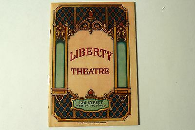 """LADY FINGERS"" ~ LIBERTY THEATRE PROGRAM, NEW YORK (1929) 40 pages"