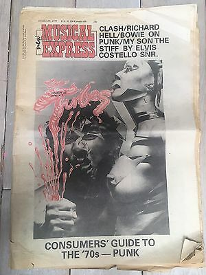 VINTAGE NME New Musical Express ELVIS COSTELLO QUEEN October 1977