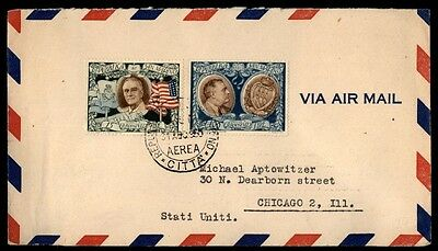 1950 San Marino colorful franking on cover president Roosevelt