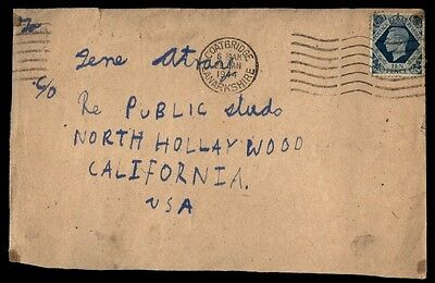 1944 Coatbridge UK cover to North Hollywood CA USA