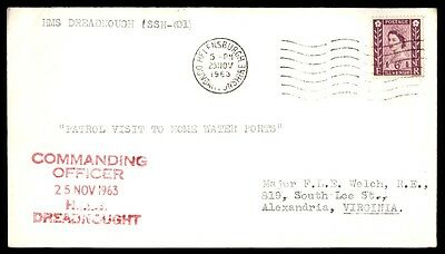 November 25, 1963 HMS dreadnought commanding officer cover