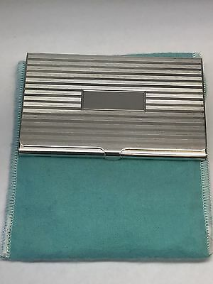 Tiffany & Co. Sterling Silver Engine-Turned Business Card Case