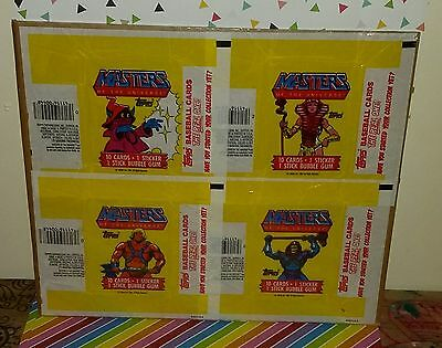 Vintage 1980s Masters of the Universe Topps Card Set, Box, and Wrappers