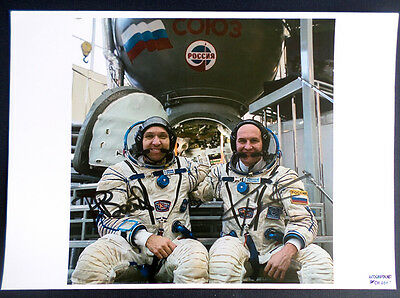 Soyuz MS-05 Bresnik & Ryazansky Cosmonauts SIGNED Original AUTOGRAPH PHOTO 12x8