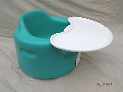 Bumbo Baby Feeding Booster Seat,green With Tray,wipe Clean,good Condition,stable