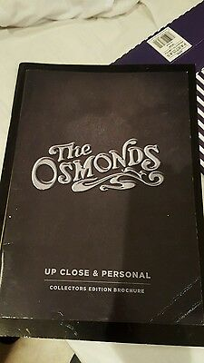 the osmonds up close and personal concert programme