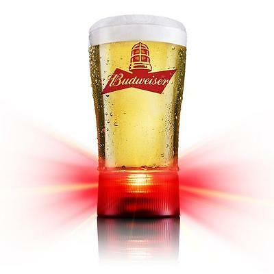 Budweiser Goal-Synced Red Light Glass Limited Edition new in original box