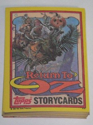 Return to Oz by Topps in 1985.  Complete 44 sticker card set.