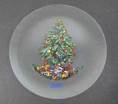 Pepsi-Cola Clear Glass Platter - Christmas Tree & Presents