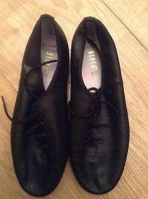 Girls Size 5 1/2 Jazz Shoes Bloch Leather Uppers