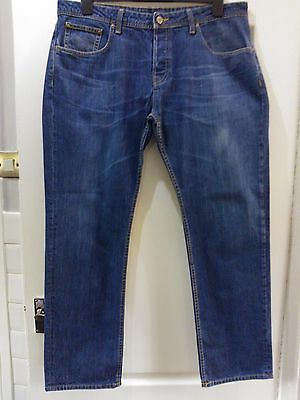 Mens Duck And Cover Straight Leg Blue Jeans W36 L32