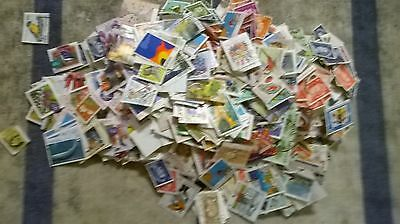 70 grams Used Australian Stamps Off Paper