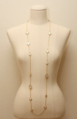 """New YGP & Mother of Pearl  16 Motif Clover Necklace Set  Alhambra 50"""""""