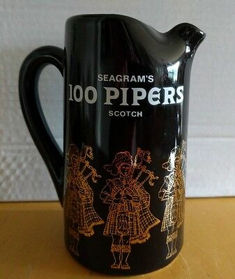 Nice vintage Whisky Pitcher by Seagrams 100 Pipers Scotch Whisky