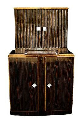 Extraordinary Bar Art Deco style Iin Makassar Ebony