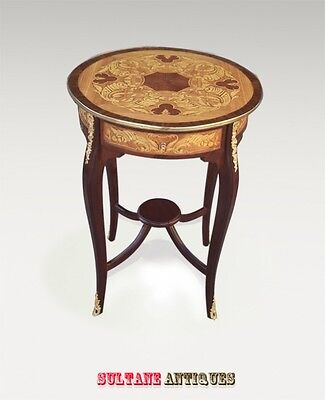 two Tier Louis XV Elegant marquetry side table